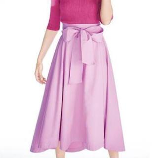 フレイアイディー(FRAY I.D)のFRAY ID・イレギュラーヘムフレアスカート ピンク サイズ0(ロングスカート)