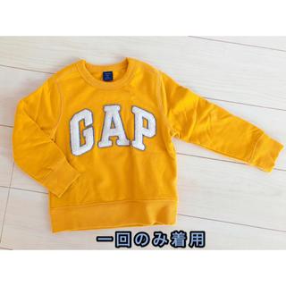 ギャップキッズ(GAP Kids)の子供服 ギャップキッズ 裏起毛トレーナー 105cm 中古美品(Tシャツ/カットソー)