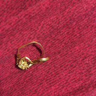 18金 ジャンク 変形した指輪
