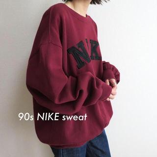NIKE - 90s NIKE ナイキ 刺繍ロゴ スウェット トレーナー 古着 vintage