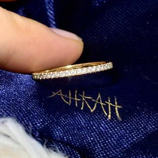 AHKAH - AHKAH ティナリング 11号 K18 イエローゴールド