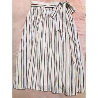 ハニーズ(HONEYS)の♡リボン付き♡ストライプ スカート♡(ひざ丈スカート)