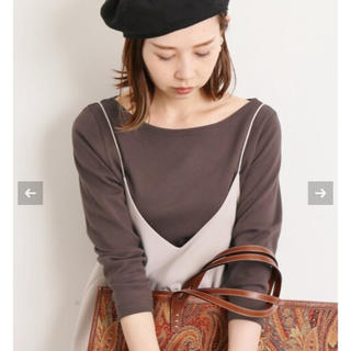 IENA - 新品タグ付き AURALEE*IENA 別注ボートネックTシャツ 38