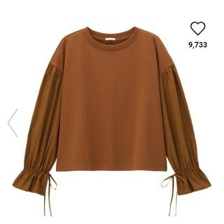 ジーユー(GU)のコンビネーションボリュームスリーブT(Tシャツ(長袖/七分))