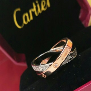 カルティエ(Cartier)のCartier リング(指輪) Au750 プレゼント 男女兼用 (リング(指輪))