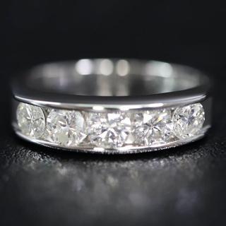 Pt900 プラチナ 1.08ct 5連 ダイヤモンド リング(リング(指輪))