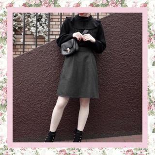 フィント(F i.n.t)の♡an3 バックレースアップツイードミニスカート♡(ミニスカート)