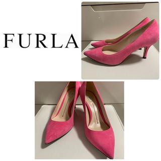 Furla - フルラ  ピンクスエード  パンプス