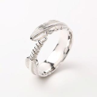 (17号フリー) シルバー リング 925 フェザー メンズ イーグル  指輪 (リング(指輪))
