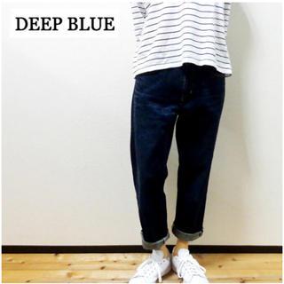 ディープブルー(DEEP BLUE)の新品!《DEEP BLUE》甘織デニム ボーイフレンド アンクル丈 5Pパンツ(デニム/ジーンズ)
