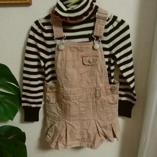 ベビーギャップ(babyGAP)のbaby gap90ピンクデニムのジャンパースカート(ワンピース)