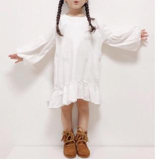 韓国子供服💛ポワン袖ワンピース💛13サイズ💛新品未使用タグなし