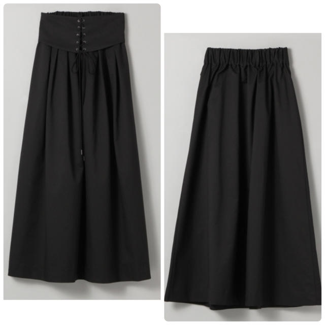 JEANASIS(ジーナシス)の定価7020円❤️【新品】JEANASISコルセットデザインロングスカート♡ レディースのスカート(ロングスカート)の商品写真