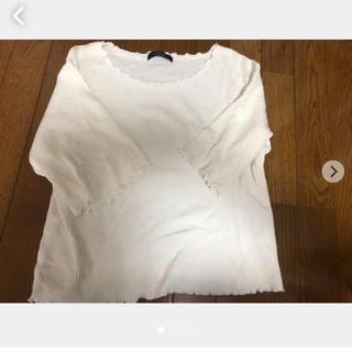ダブルクローゼット(w closet)のダブルクローゼット トップス 2、3回使用(Tシャツ(長袖/七分))