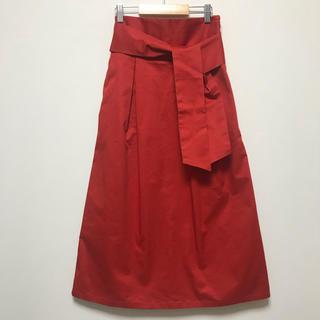 ジーユー(GU)のGU オレンジハイウエストロングスカート (ロングスカート)