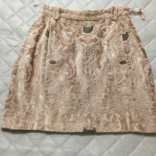 ファーファー(fur fur)のFUR FUR ミニスカート(ひざ丈スカート)