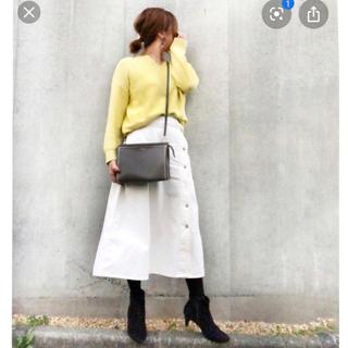 ジーユー(GU)のGU デニムサイドボタンロングスカート(ロングスカート)