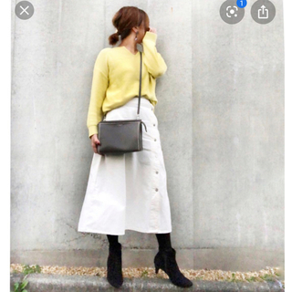 GU - GU デニムサイドボタンロングスカート