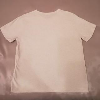 ジーユー(GU)のGUレディースTシャツライトグレーM(Tシャツ(半袖/袖なし))