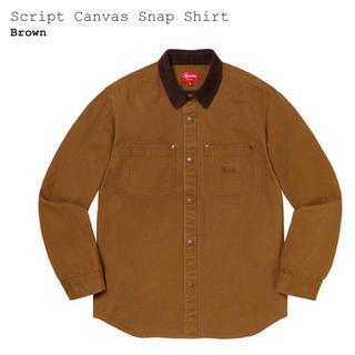 Supreme - Supreme Script Canvas Snap Shirt M