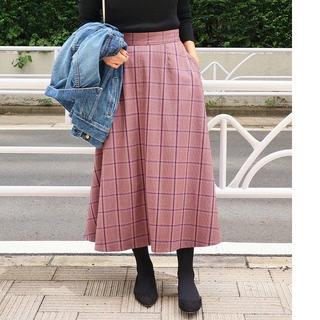IENA - 新品 ☆洗える☆ チェックフレアスカート 2018AW イエナ