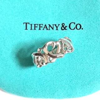 Tiffany & Co. - ティファニートリプルラビングハートリング 12.5号(美品)