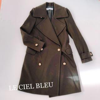 ルシェルブルー(LE CIEL BLEU)のLE CIEL BLEU ウールコート カーキ(チェスターコート)