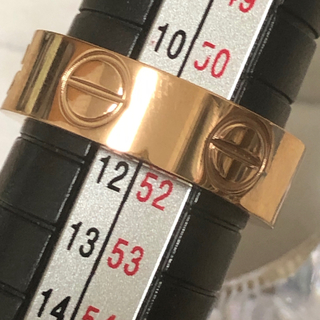 ストーン無し ラブリング 6mm レディースステンレスリング  ローズゴールド(リング(指輪))