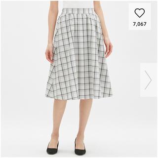 ジーユー(GU)のGU チェックミディスカート(ひざ丈スカート)