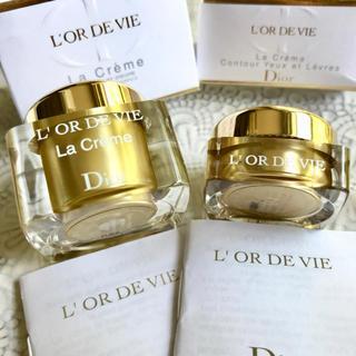ディオール(Dior)の【2種✦13090円分】オードヴィ ラクレーム ユーエレーヴル(目元口元クリーム(アイケア / アイクリーム)