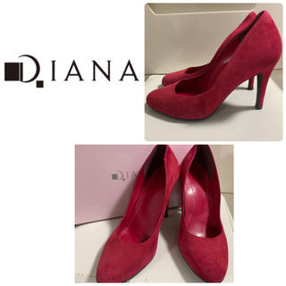 DIANA - ダイアナ レッドスエード  パンプス