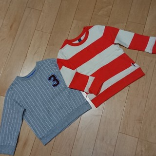ベビーギャップ(babyGAP)のgapH&Mギャップ長袖トレーナースウェット二枚セット100㎝男の子(Tシャツ/カットソー)