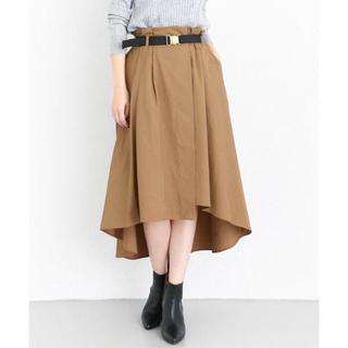 ケービーエフプラス(KBF+)のKBF+ / ウエストマークイギュラーヘムスカート(ひざ丈スカート)