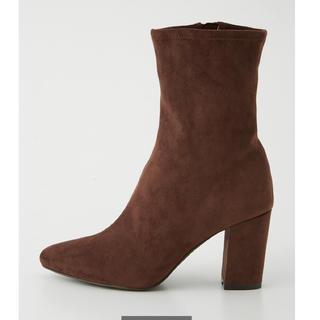 リエンダ(rienda)の★リエンダ今季新作 slim fit midi boots ブラウンSサイズ★(ブーツ)
