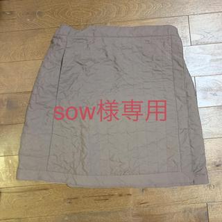 ジーユー(GU)のユニクロ キルティング巻きスカート リバーシブル(ミニスカート)