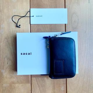 サカイ(sacai)のsacai leather wallet small ブラック(折り財布)