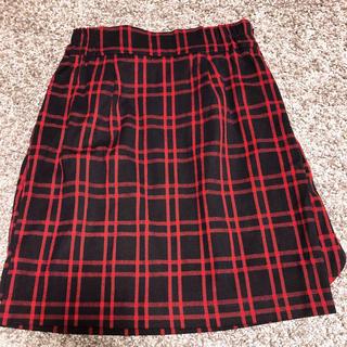 アラマンダ(allamanda)のAllamanda バックリボンチェックタイトスカート(ミニスカート)