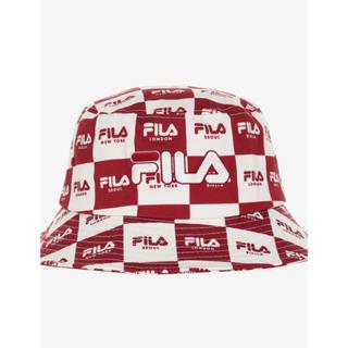 フィラ(FILA)のフィラ-新作チェックパターンとロゴがポイントに入ったバケットハット新品未使用(ハット)