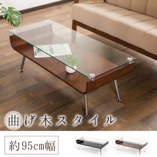ガラステーブル/おしゃれ/センターテーブル/ローテーブル/ガラス製/滑り止め/(ローテーブル)