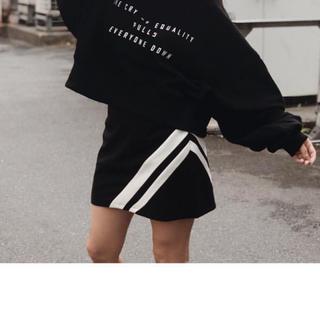 アンビー(ENVYM)のバイカラースカート(ミニスカート)