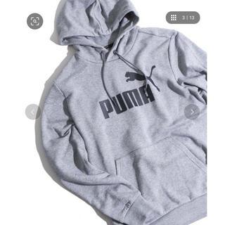 プーマ(PUMA)のパーカー PUMA ロゴ フーディ メンズ レディース グレー(パーカー)