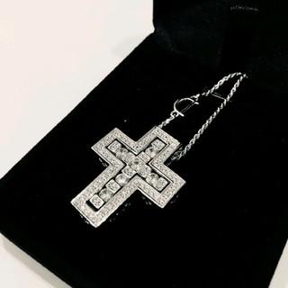 新品 ホワイトゴールド 5A cz diamond ネックレス Dバックル付き(ネックレス)