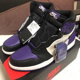 NIKE - NIKE AIR JORDAN 1 court purple us9.5
