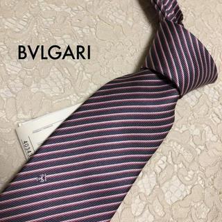 BVLGARI - 新品!タグ付き!BVLGARI 最高級シルク ストライプ!ネクタイ 大人気!
