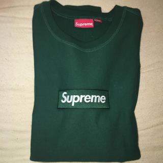 Supreme - 最安値 supreme box logo crewneck green L