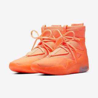 フィアオブゴッド(FEAR OF GOD)のNIKE Air Fear Of God 1 Orange Pulse 7.5(スニーカー)