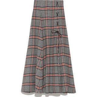 snidel - チェックスリットロングスカート