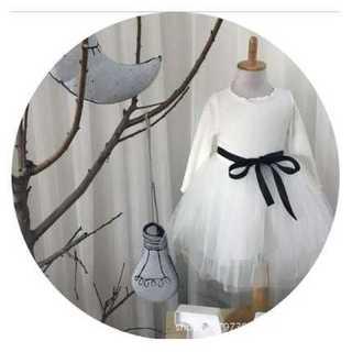 子供用 チュチュ プリンセスドレス 110cm 白 かわいい ホワイト 結婚式(ワンピース)