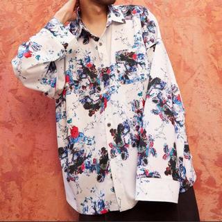 ラッドミュージシャン(LAD MUSICIAN)のunrelaxing オーバーサイズ長袖花柄シャツ 最終値下げ(シャツ)