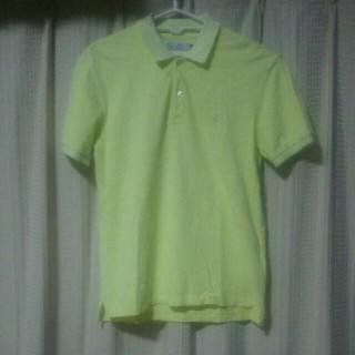 プチバトー(PETIT BATEAU)のpetitbateau 半袖ポロシャツ Mサイズ インポートブランド 大人 中古(ポロシャツ)
